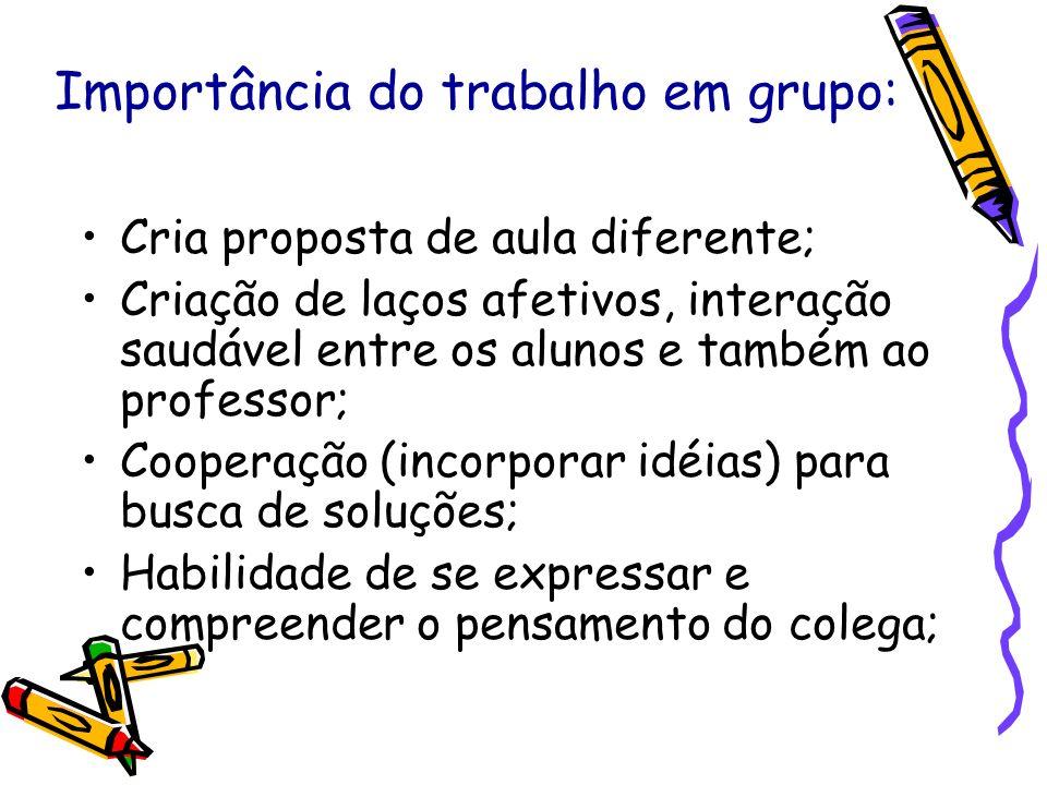 Importância do trabalho em grupo:
