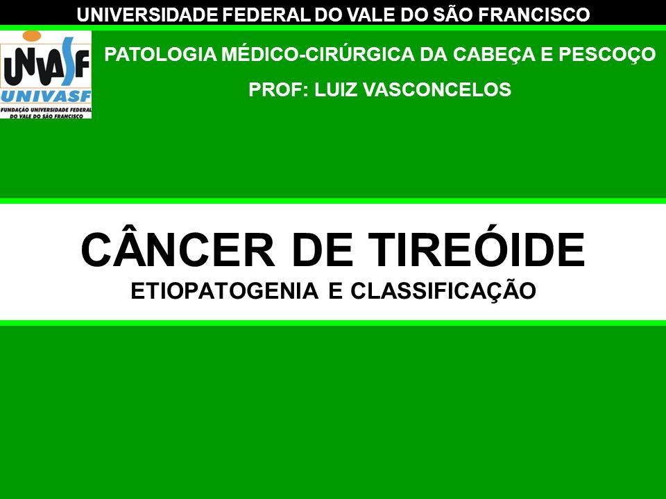 CÂNCER DE TIREÓIDE ETIOPATOGENIA E CLASSIFICAÇÃO