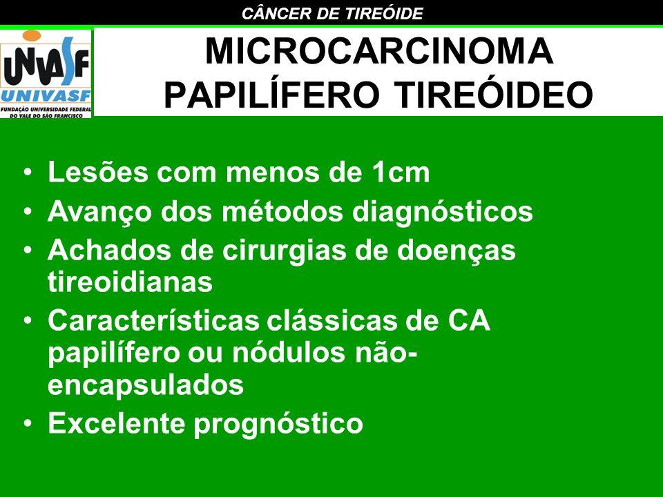 MICROCARCINOMA PAPILÍFERO TIREÓIDEO