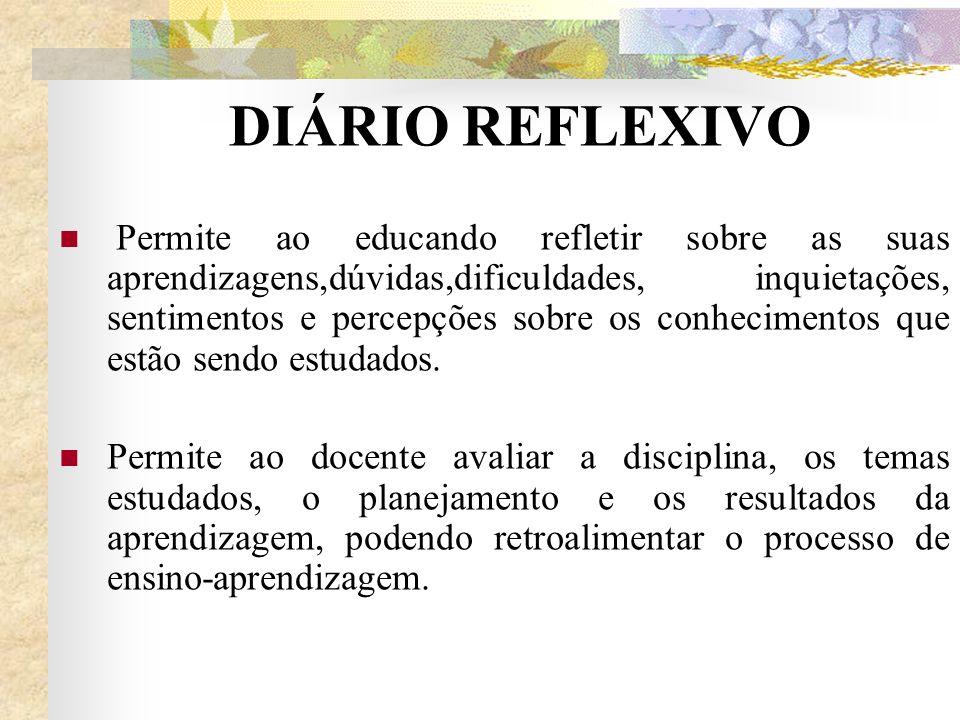 DIÁRIO REFLEXIVO