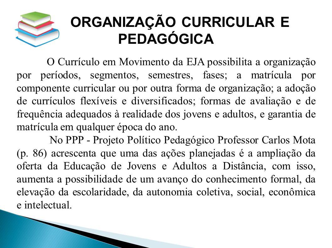 ORGANIZAÇÃO CURRICULAR E
