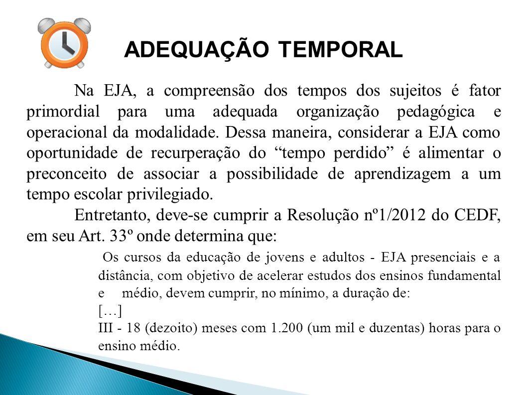 ADEQUAÇÃO TEMPORAL