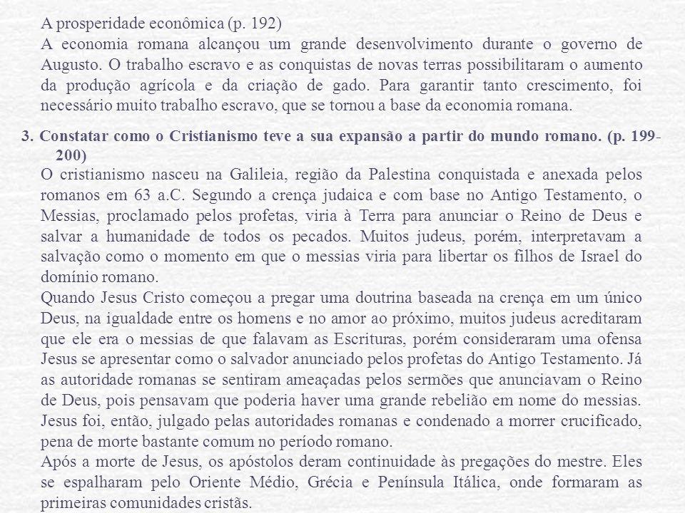 A prosperidade econômica (p. 192)