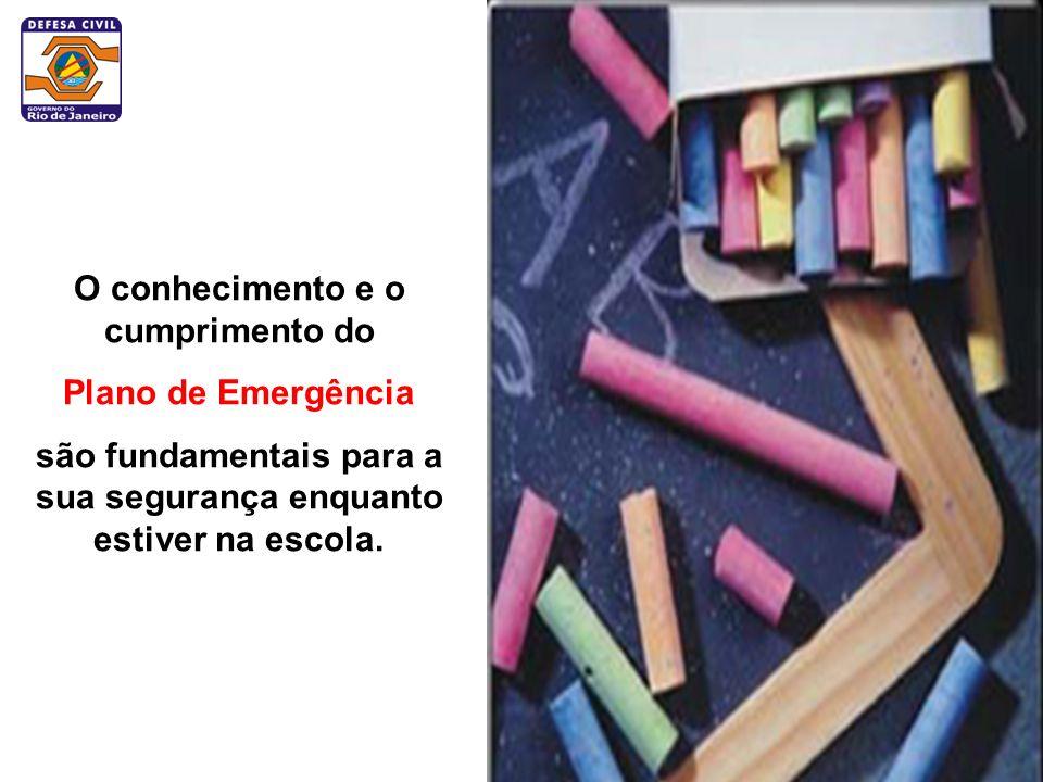 O conhecimento e o cumprimento do Plano de Emergência