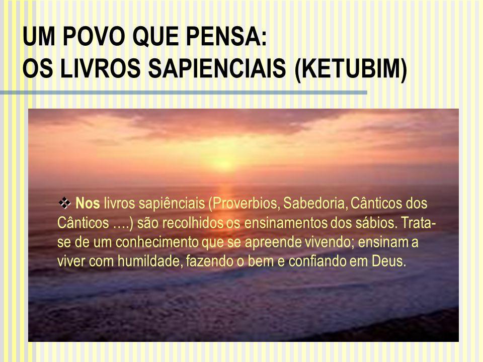 UM POVO QUE PENSA: OS LIVROS SAPIENCIAIS (KETUBIM)
