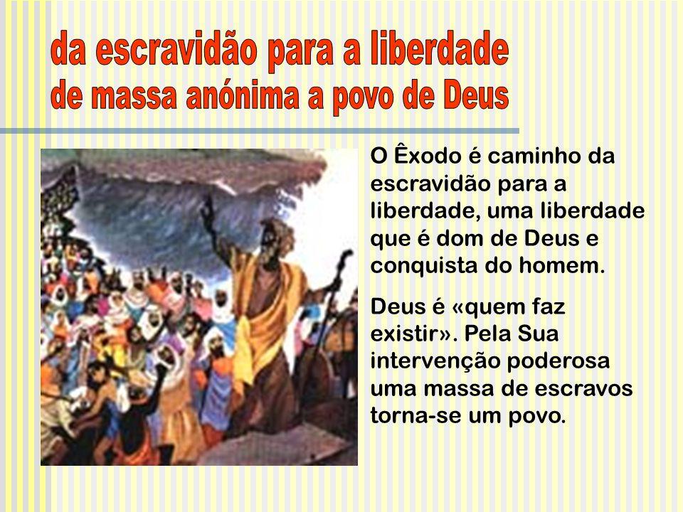 da escravidão para a liberdade de massa anónima a povo de Deus