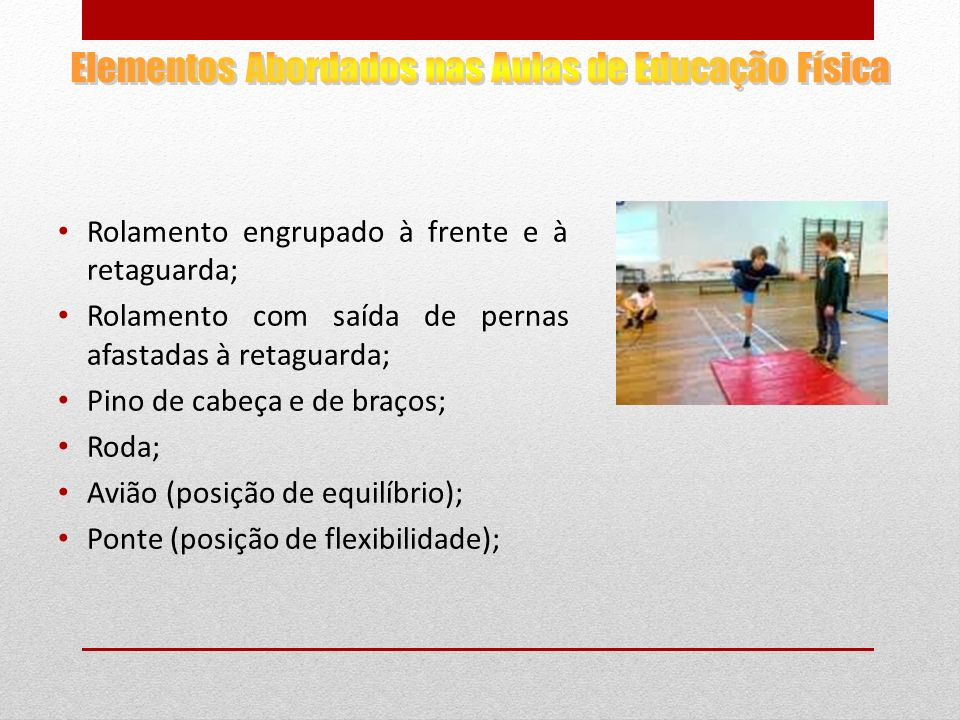Elementos Abordados nas Aulas de Educação Física