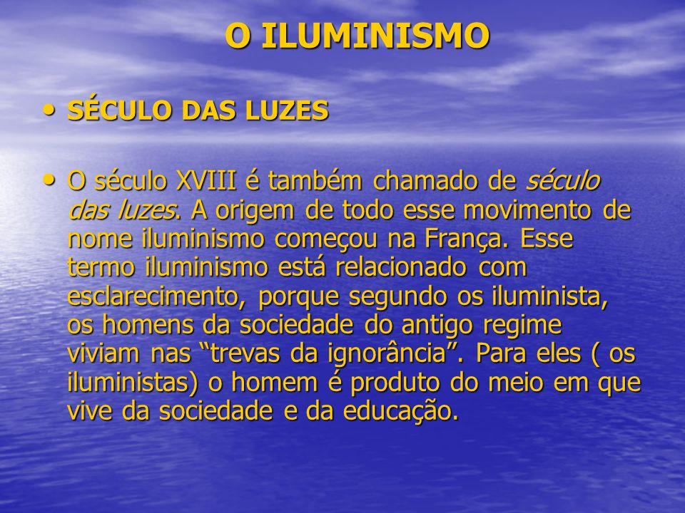 O ILUMINISMO SÉCULO DAS LUZES