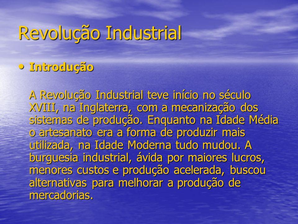 Revolução Industrial Introdução