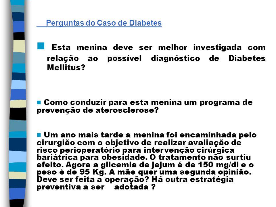 Perguntas do Caso de Diabetes