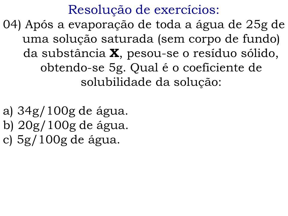 Resolução de exercícios: