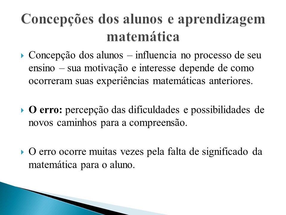 Concepções dos alunos e aprendizagem matemática