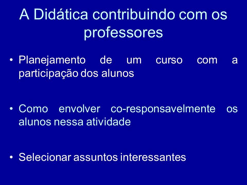 A Didática contribuindo com os professores