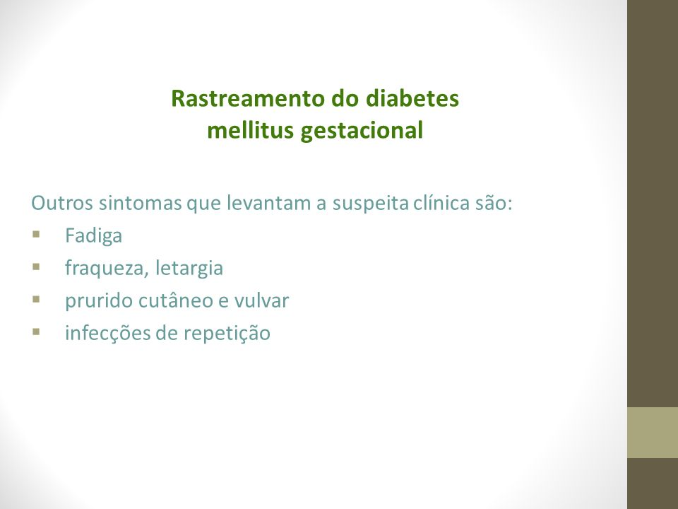 Rastreamento do diabetes mellitus gestacional