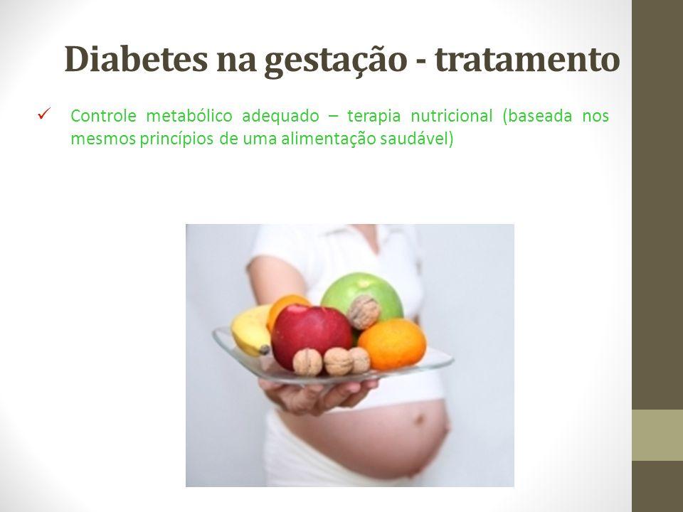 Diabetes na gestação - tratamento