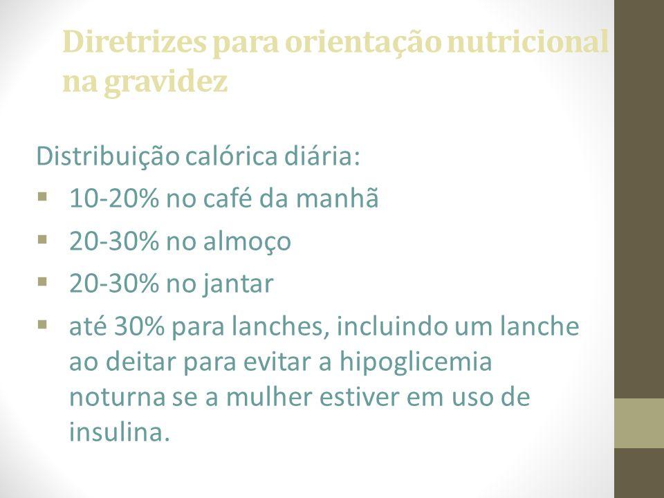 Diretrizes para orientação nutricional na gravidez