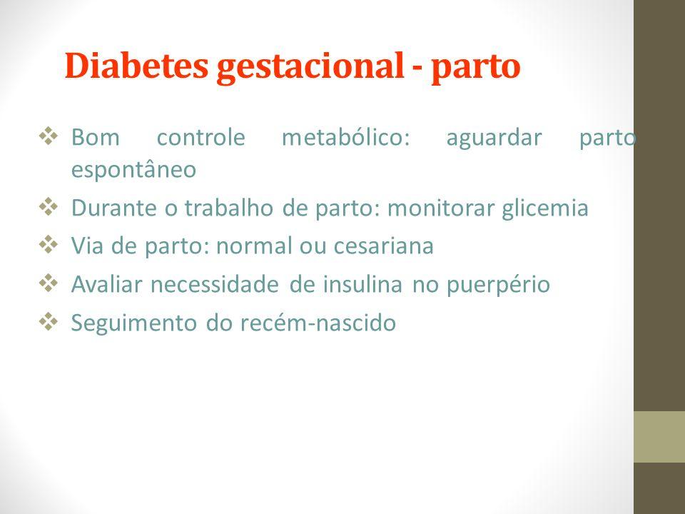 Diabetes gestacional - parto