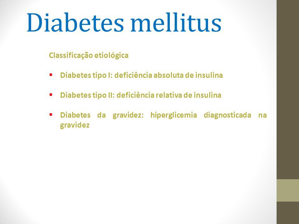 Diabetes mellitus Classificação etiológica