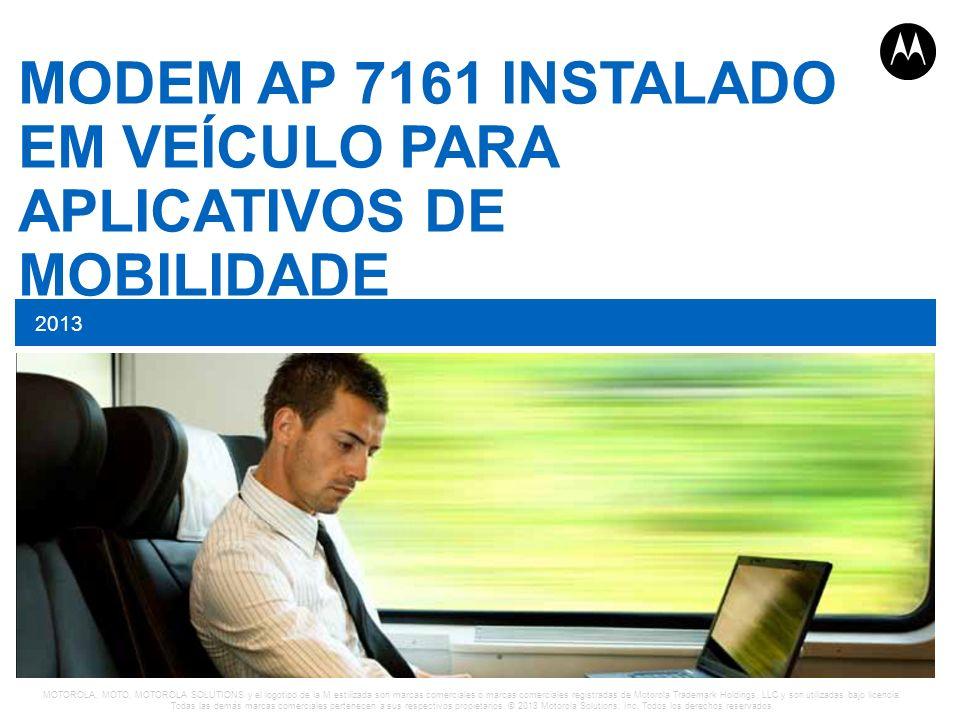 MODEM AP 7161 INSTALADO EM VEÍCULO PARA APLICATIVOS DE MOBILIDADE