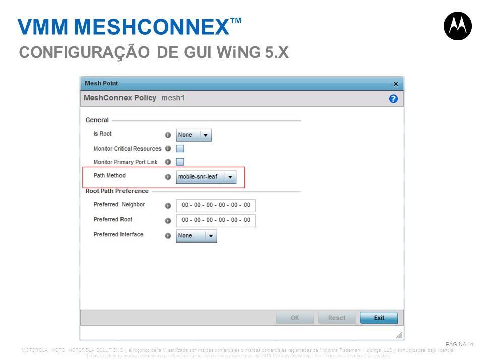 VMM MESHCONNEX™ CONFIGURAÇÃO DE GUI WiNG 5.X