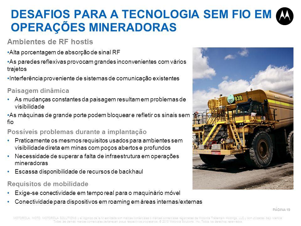 DESAFIOS PARA A TECNOLOGIA SEM FIO EM OPERAÇÕES MINERADORAS