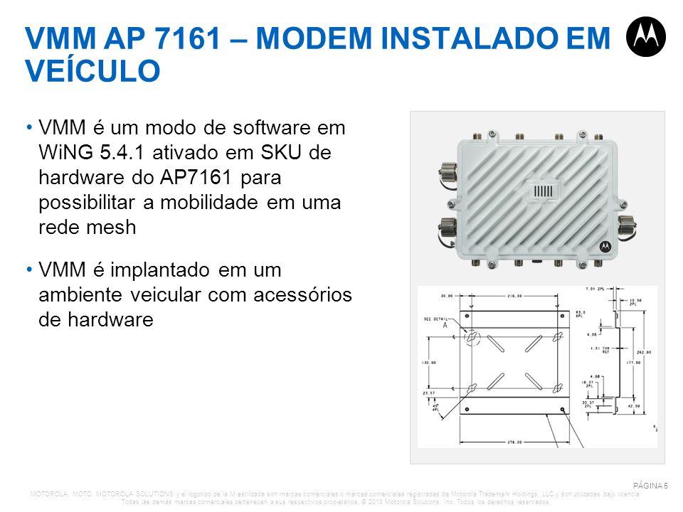 VMM AP 7161 – MODEM INSTALADO EM VEÍCULO