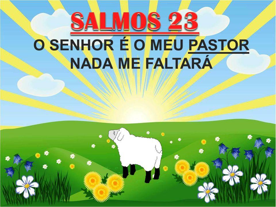SALMOS 23 O SENHOR É O MEU PASTOR NADA ME FALTARÁ.