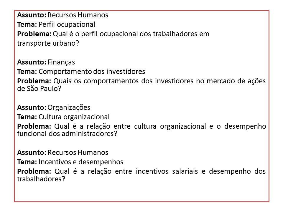 Assunto: Recursos Humanos