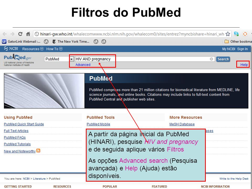 Filtros do PubMed