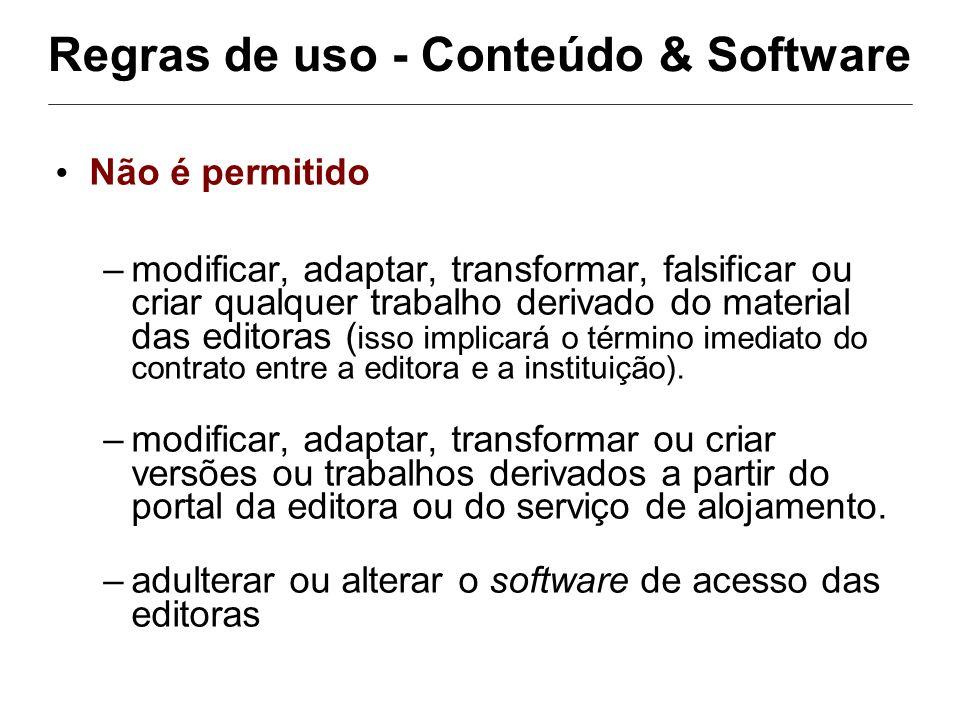 Regras de uso - Conteúdo & Software