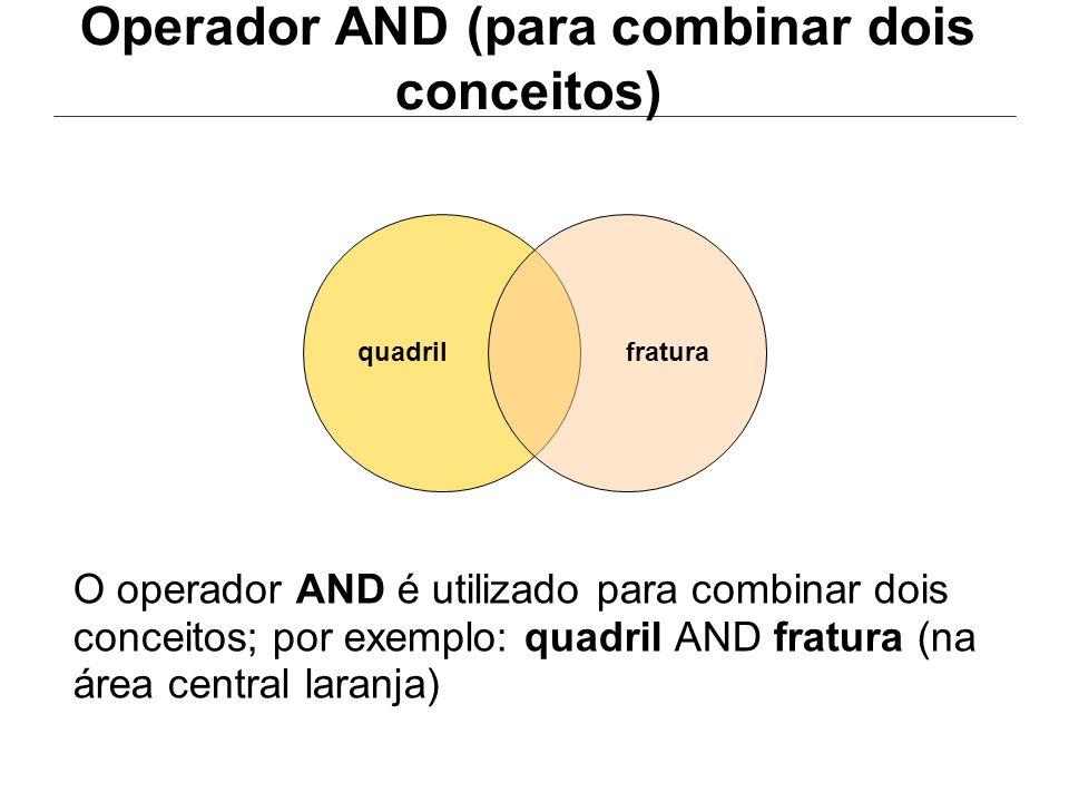 Operador AND (para combinar dois conceitos)
