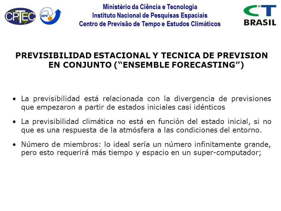 PREVISIBILIDAD ESTACIONAL Y TECNICA DE PREVISION EN CONJUNTO ( ENSEMBLE FORECASTING )