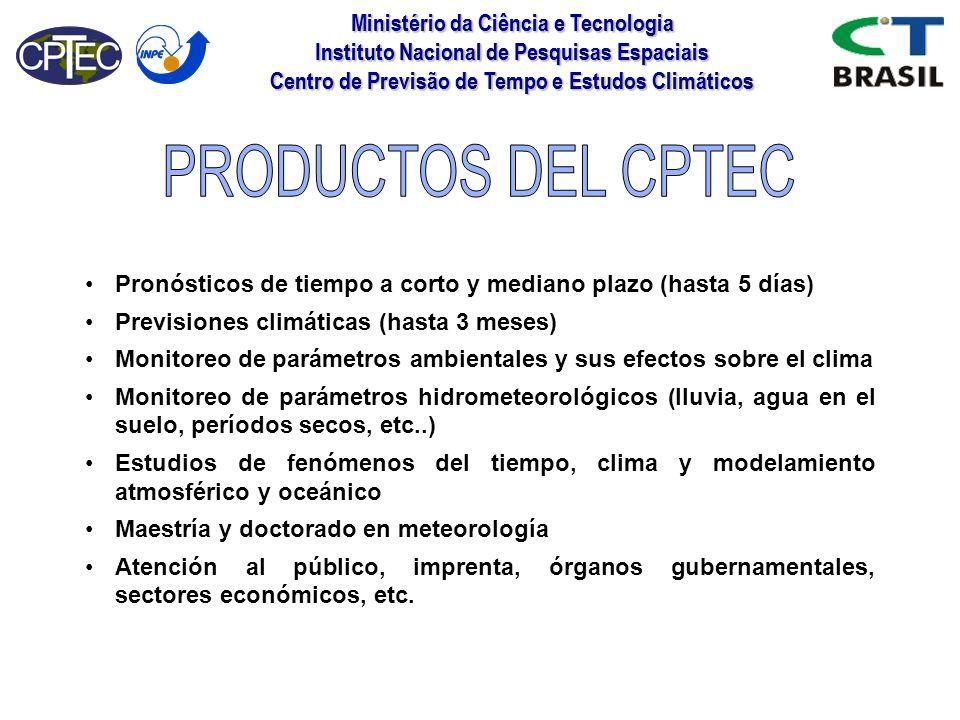PRODUCTOS DEL CPTEC Ministério da Ciência e Tecnologia