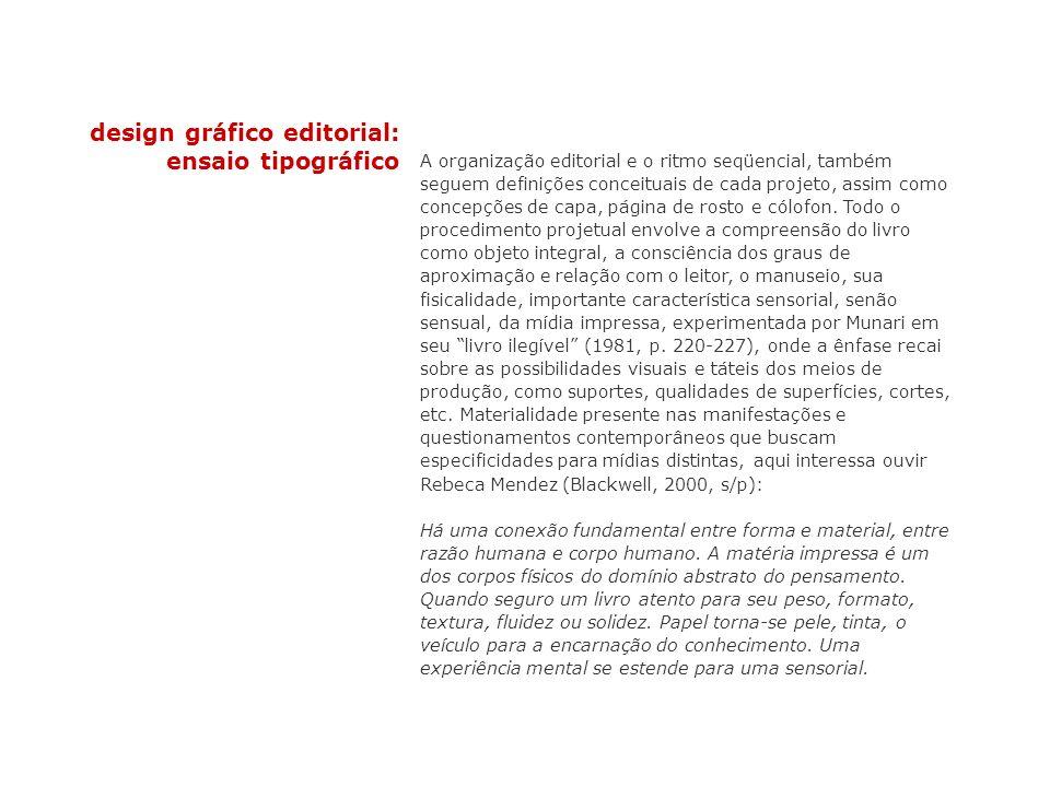 design gráfico editorial: ensaio tipográfico