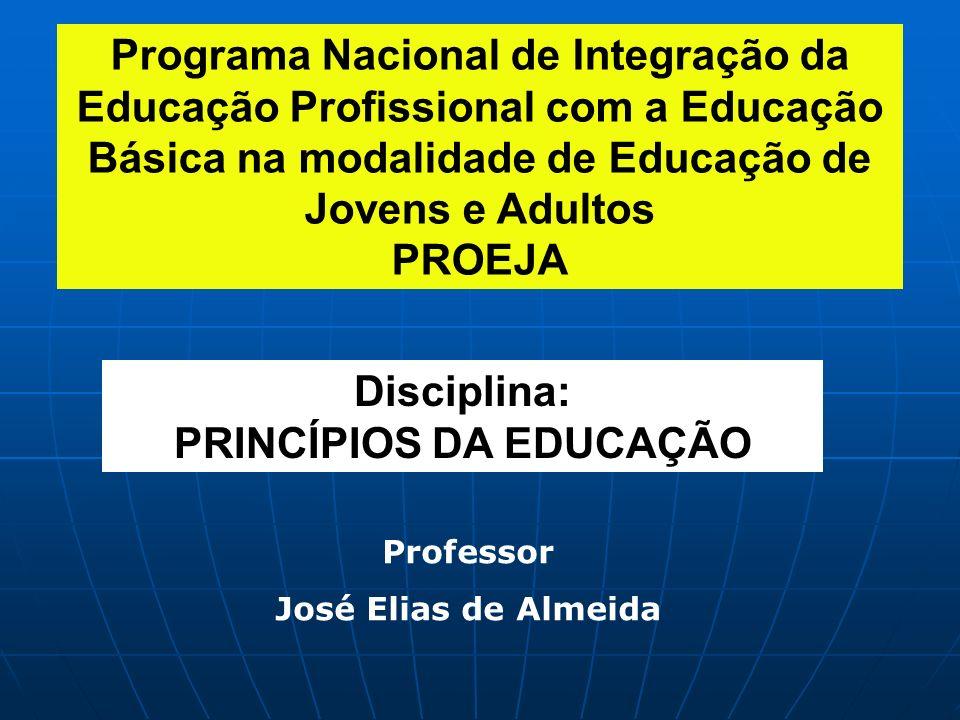 PRINCÍPIOS DA EDUCAÇÃO