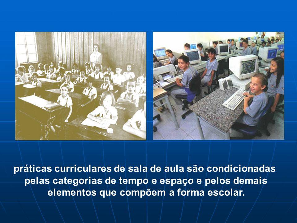 práticas curriculares de sala de aula são condicionadas