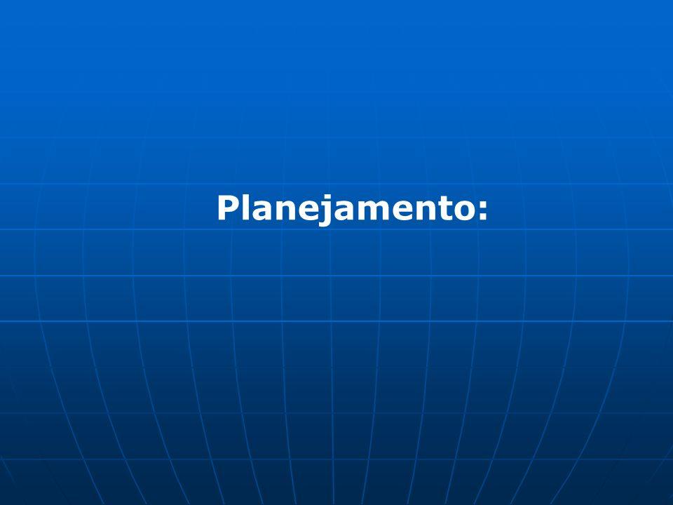 Planejamento: