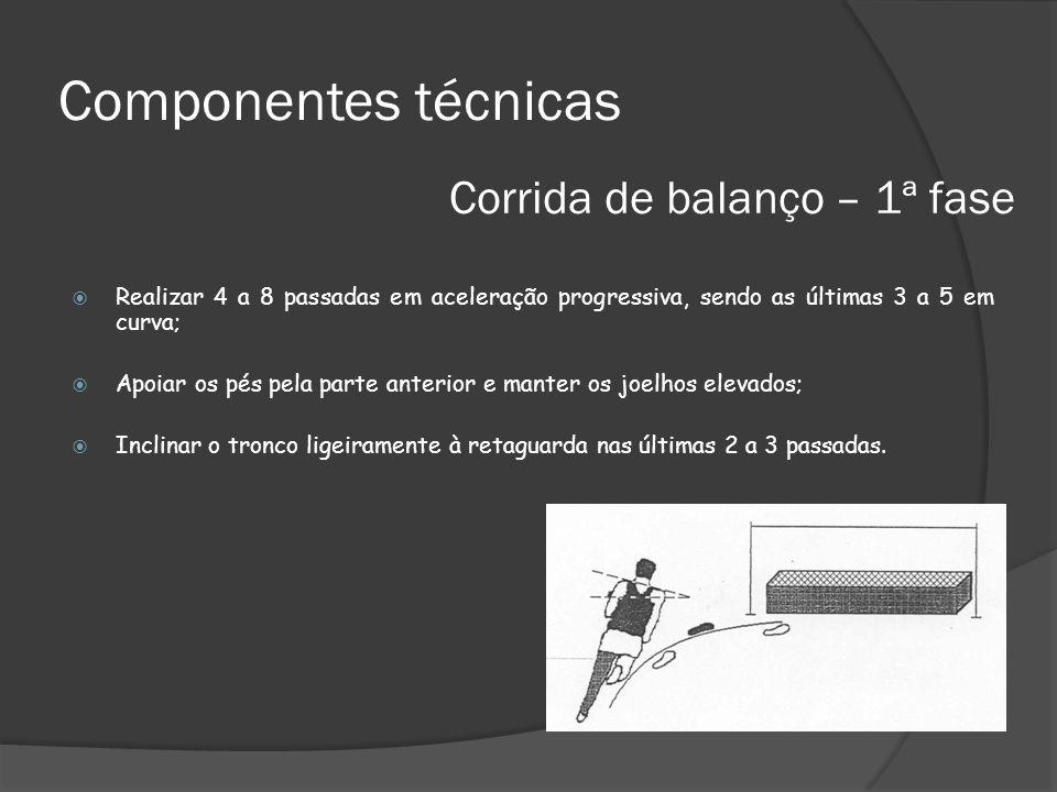 Componentes técnicas Corrida de balanço – 1ª fase