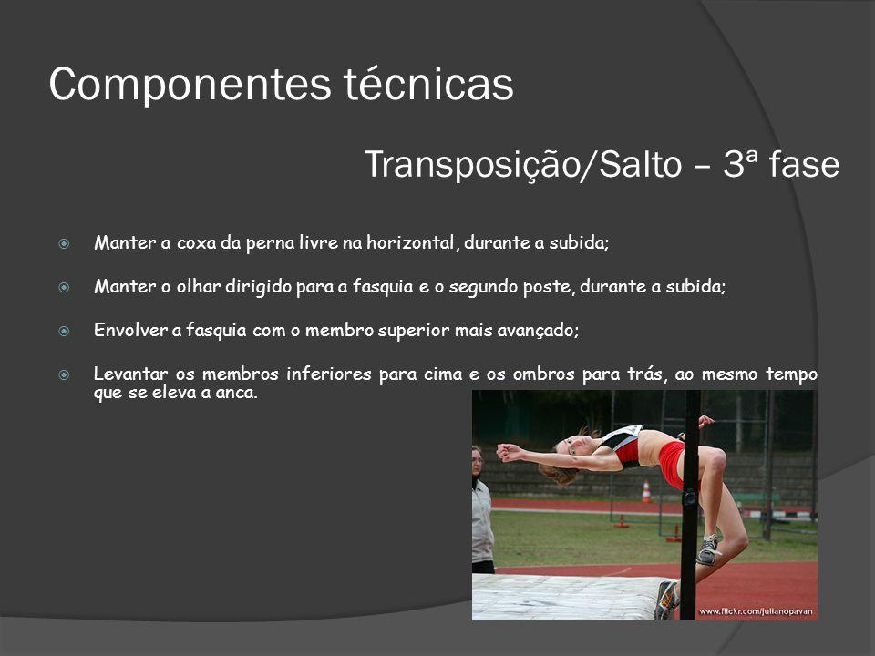 Componentes técnicas Transposição/Salto – 3ª fase
