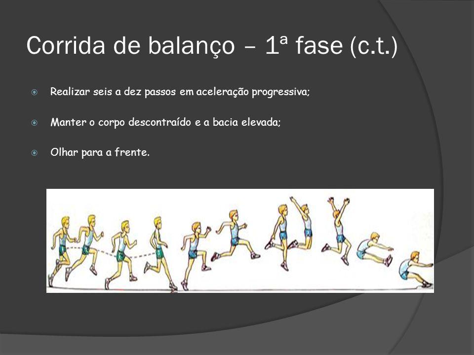 Corrida de balanço – 1ª fase (c.t.)