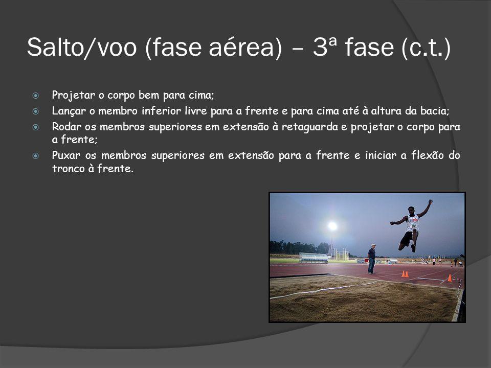 Salto/voo (fase aérea) – 3ª fase (c.t.)