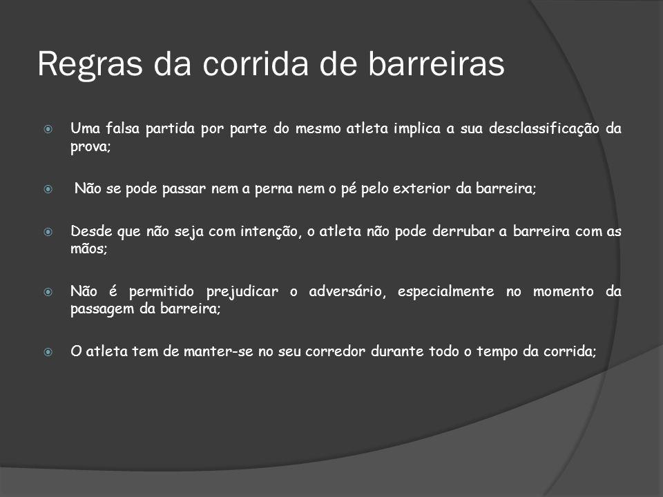 Regras da corrida de barreiras