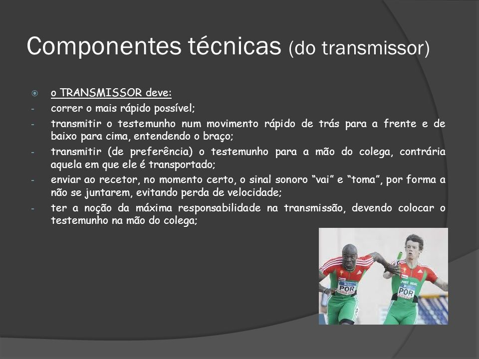 Componentes técnicas (do transmissor)