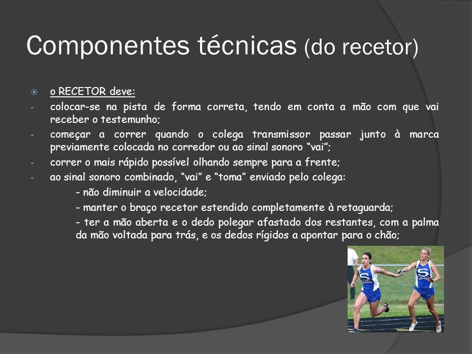 Componentes técnicas (do recetor)
