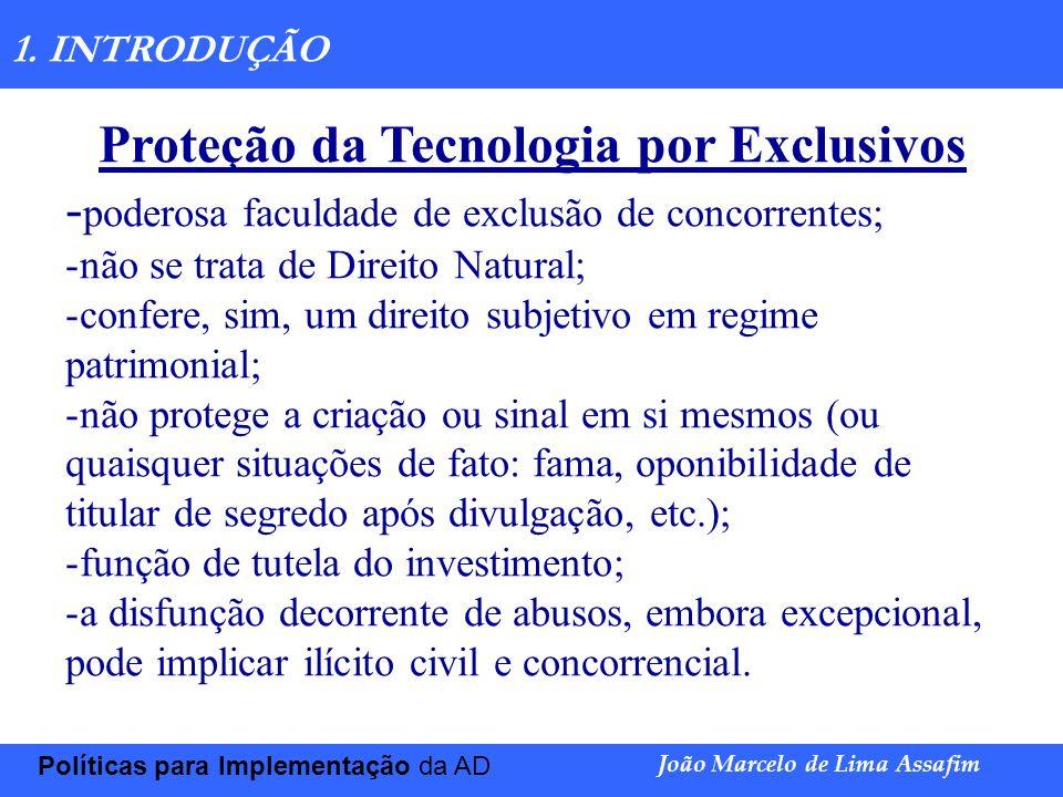Proteção da Tecnologia por Exclusivos