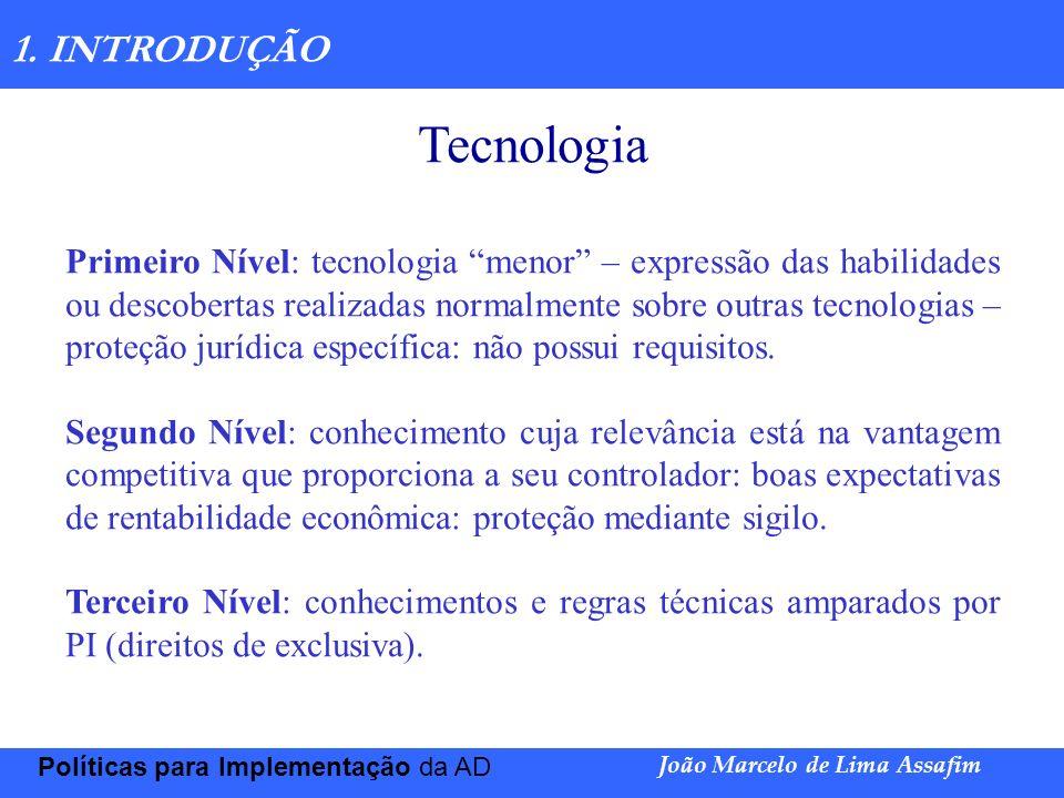 Tecnologia 1. INTRODUÇÃO