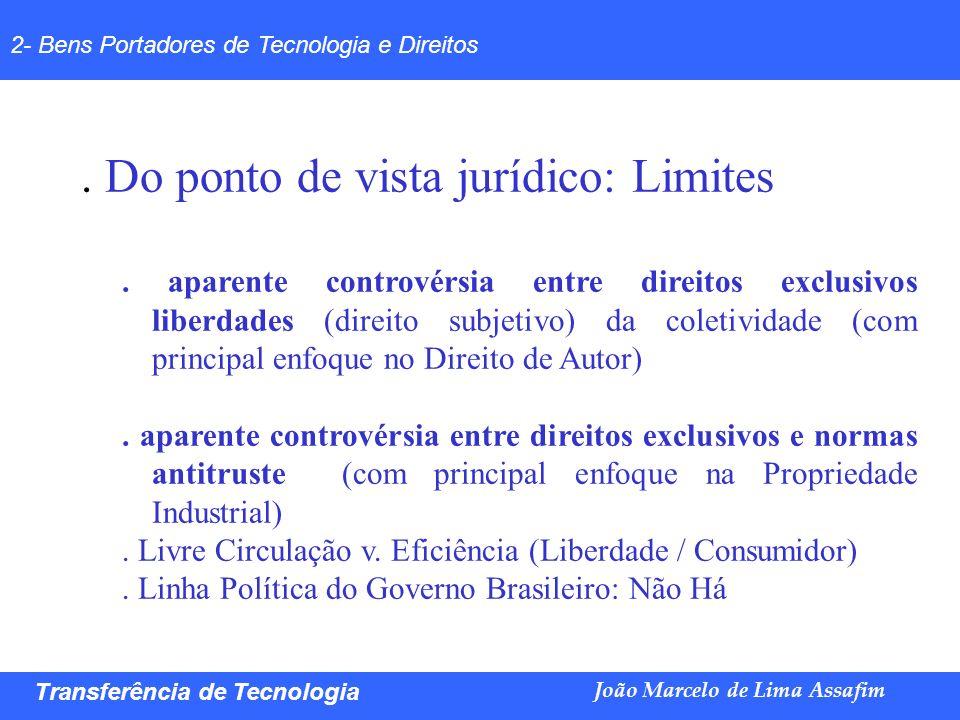. Livre Circulação v. Eficiência (Liberdade / Consumidor)