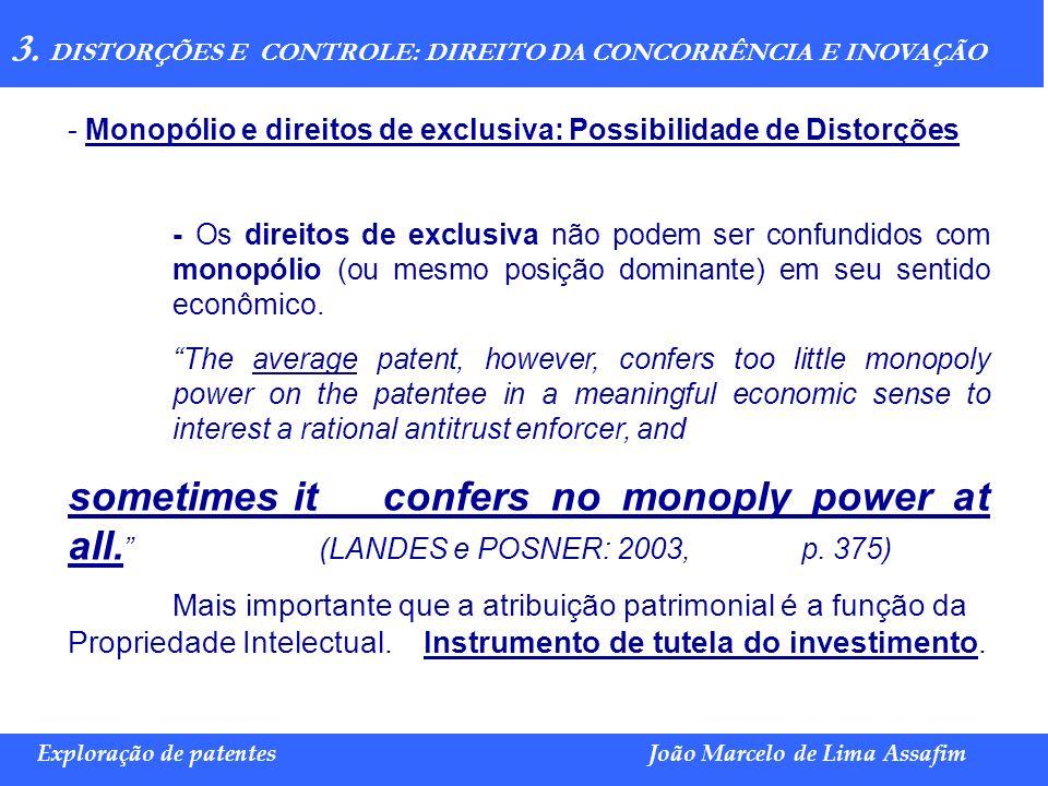 3. DISTORÇÕES E CONTROLE: DIREITO DA CONCORRÊNCIA E INOVAÇÃO