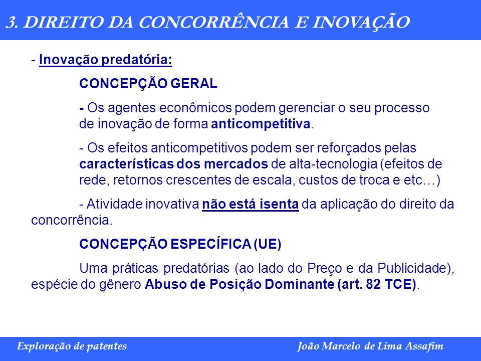 3. DIREITO DA CONCORRÊNCIA E INOVAÇÃO