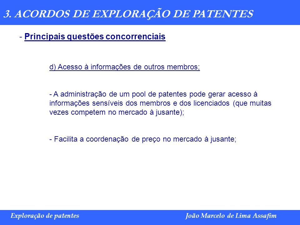 3. ACORDOS DE EXPLORAÇÃO DE PATENTES